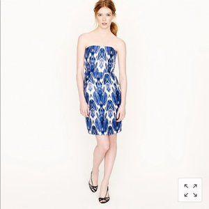 J. Crew Collection Silk IKat Dress 12 New w Tags